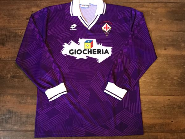 1991 1992 Fiorentina L/s Home Football Shirt Adults XL Top Maglia Italy